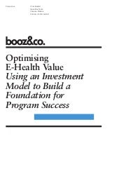 Optimizing E-Health Value - Viewpoint