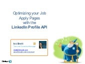 Optimizing your job apply pages with the LinkedIn profile API