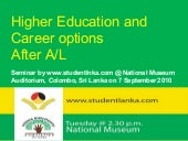 Higher education and career options...