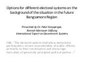 Options for electoral systems in ba...