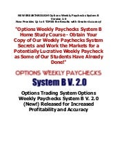 Options Weekly Paychecks System B v...