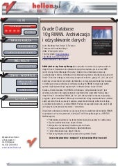 Oracle Database 10g RMAN. Archiwiza...