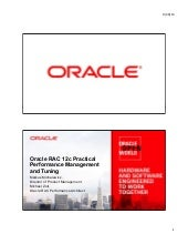 Oracle RAC 12c Practical Performanc...
