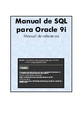 Manual de Oracle Sql