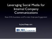 Social Media for Internal Company C...