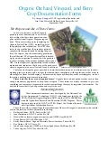 Organic Orchard, Vineyard, and Berry Crop Documentation Forms