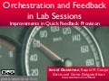 Orchestration and Feedback in Lab Sessions: ECTEL11
