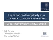 Organisational complexity as a challenge to research assessment: a case study of the University of Oxford