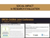 Social Impact in research evaluation