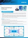 HCLT Brochure: Telecom Services - Order Provisioning and Fulfillment Management Services