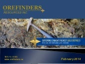 Orefinders Resources, Inc. video