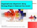 Organizational Alignment using Strategy Maps and Balanced Scorecard