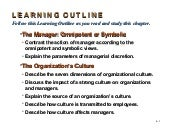 Organization  Culture And  Environment  P O M