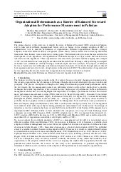Organizational determinants as a ba...