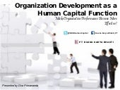 Organization development as a human...