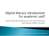 ORIC Digital literacy and curriculu...