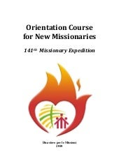 Orientation Course For New Missiona...