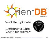 OrientDB document or graph? Select the right model