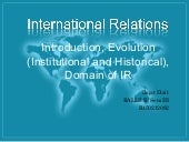Origin and evolution of internation...