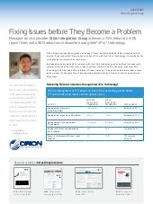 Orion Integration Group - Fixing Is...