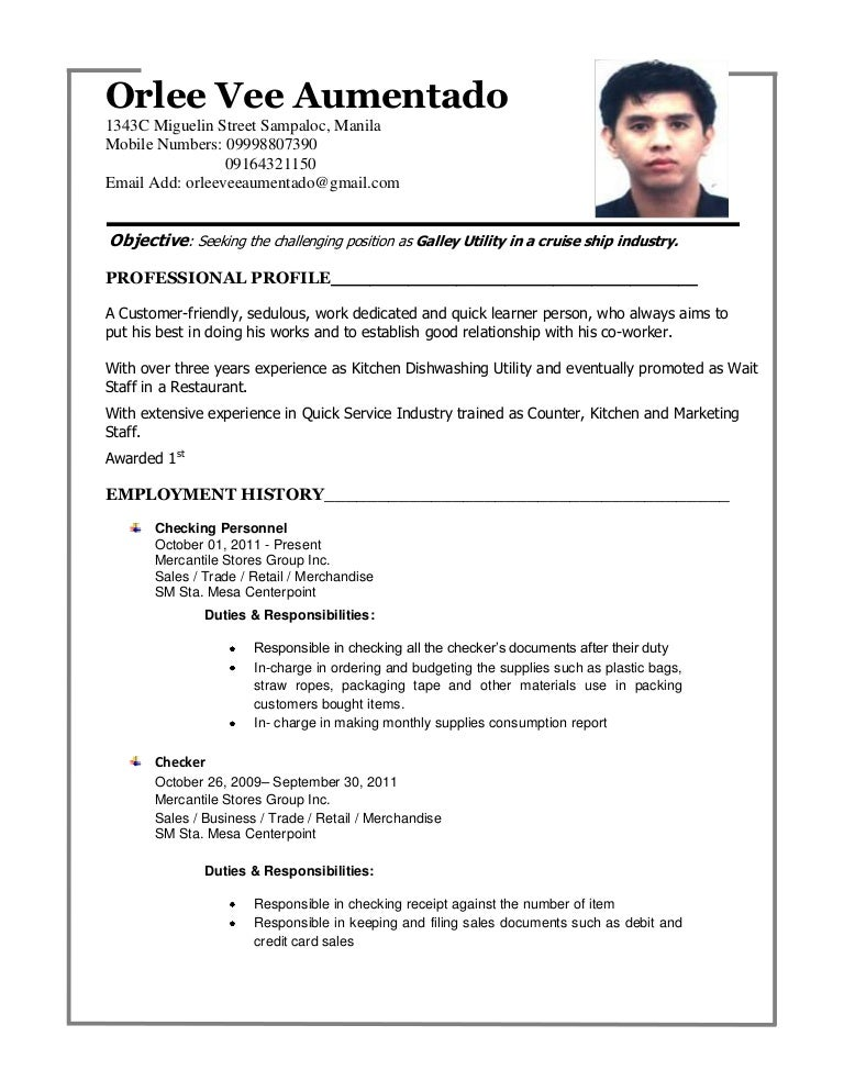 Beautiful Tagalog Resume Format Gallery   Simple Resume Office .