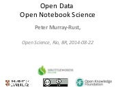 Open data and Open Science