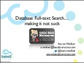 OSDC-2010 Database Full-text Search...