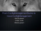From Config Management Sucks to #cfgmgmtlove
