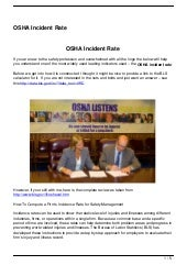 OSHA Incident Rate
