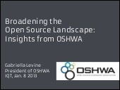 broadening the open source landscap...