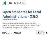 OSLO - how semantic collaboration is going to be a cornerstone of the next generation smart cities