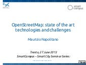 OpenStreetMap: state of the art tec...