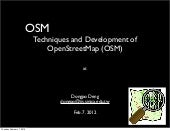 Osm techniques and developemnt