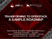 Transforming to OpenStack: a sample roadmap to DevOps