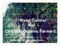 Weed Control for Organic Farmers