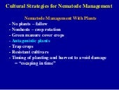 Antagonistic Plants for Nematode Ma...