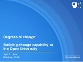 Degrees of change - The Open University webinar, 3rd Feb 2016