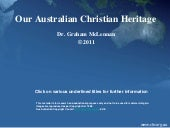 Our Australian Christian Heritage