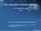 Our Australian Christian Heritage P...