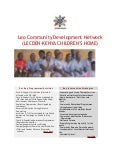 Our current  activities lecden-kenya