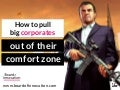 How we pull big corporates out of their comfort zone - by @nickdemey @boardofinno