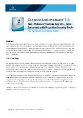 Outpost Anti-Malware 7.5