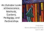 An Outsider Looks at Geoscience