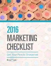 Ouw 2016 marketing checklist  (1)