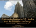 Overcoming Enterprise 2.0 Hurdles