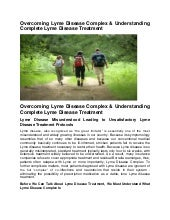 Overcoming Lyme Disease Complex & U...