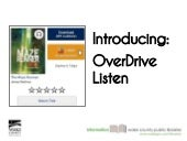 An Introduction to Overdrive Listen