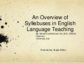 An Overview of Syllabuses in Englis...