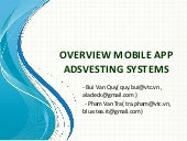 Overview mobile application advertising systems 16.08.2013