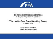 Commercial Reasonableness in Hospital-Physician Transactions